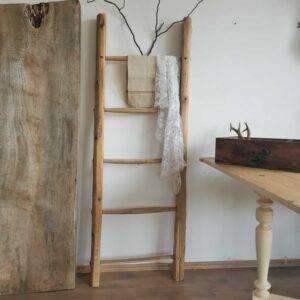 Vintage Antique Farm Decor Rustic Solid Wooden Barn Ladder