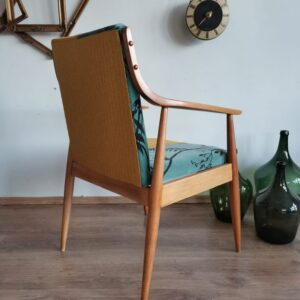 Mid century Vintage Austrian hand made oak chair from 1940s