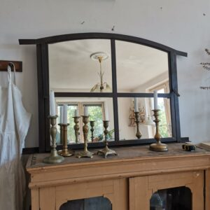 Antique Cast Iron Rustic Barn Window c1940 Restored Mirror