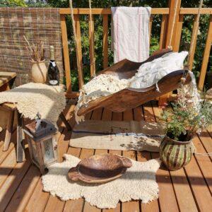 Dough bowl Garden swing. Garden furniture. Unique seating outdoors hammok