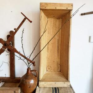 Beautiful rustic wooden bath, Dough bowl, planter, vintage decor