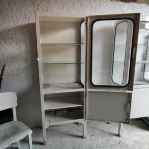 European single standing Vintage Medical Cabinet 1920s