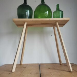 Rustic acacia wooden fisherman's bench or parlour table