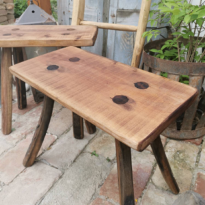 Set of 2 Rustic Milking Stools or Bedside Tables Farmhouse Decor