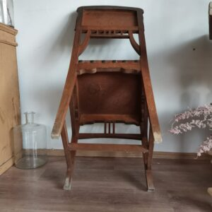 Unique set of leather tooled chairs with brass studs. Spanish medieval style