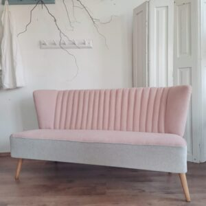 German mid-century Bartholomew club sky sofa or couch 1950s upholstered