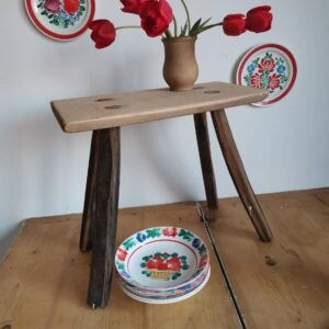 Rustic Milking Stool or Bedside Table Farmhouse Decor