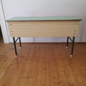 Vintage Iconic Wooden Solid School Desk, Side Table ca. 1960's