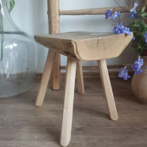 Chunky vintage style milk stool or occasional table