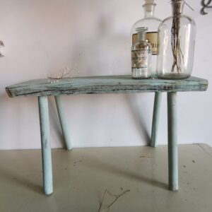 Vintage Shabby Hand-Made bench, blue wash chippy paint