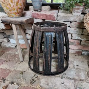 Very old demijohn metal rack or cage from vineyard in Hungary