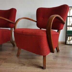 Vintage Bentwood Halabala set of armchairs