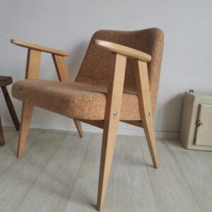 Vintage Designer Mid Century Easy Chair in Cork upholstery